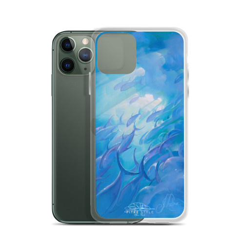 Blue Rush Pitre Style Fine Art iPhone Case