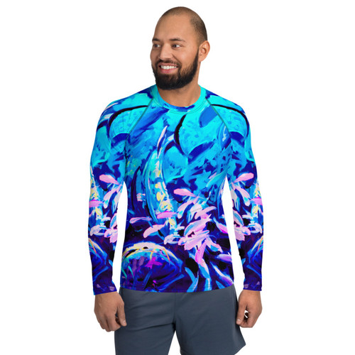 Reef Party Rave Pitre Style Wearable Art Men's Rash Guard