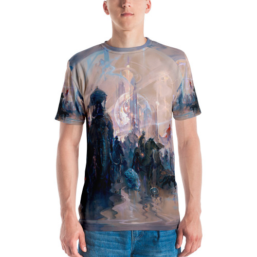 """Marchers in Time Pitre Style Fine Fashion & Fantasy Art Men's Crew Neck T-Shirt. Your new favorite tee sporting """"Marchers in Time"""" by John Pitre. It is made from super smooth and comfortable cotton touch polyester jersey that won't fade after washing. Each garment is sublimation printed, cut, and hand-sewn by our expert in-house team."""