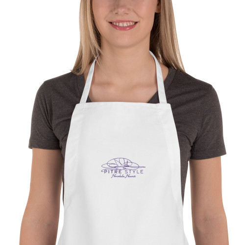 Purple Sunset Pitre Style Embroidered Apron for Everyone by John Pitre