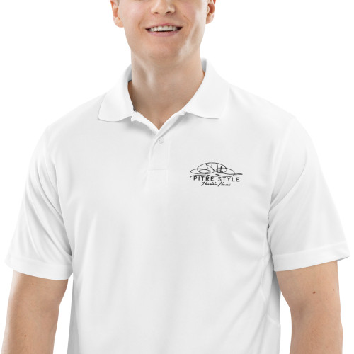 Always in style, John Pitre's black signature series performance polo is sourced from Champion ensuring the highest grade and quality product made of 100% performance polyester. It is lightweight, moisture-wicking, and helps control moisture buildup—perfect for anyone with an active lifestyle.