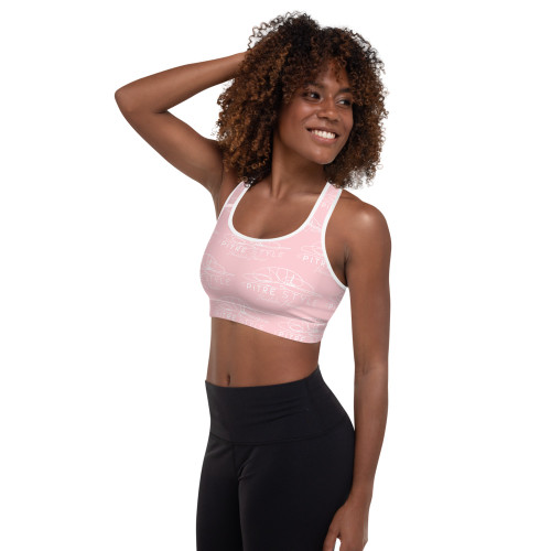 One of our most requested color pallets, Pitre Style's Plumeria Pink Signature Padded Sports Bra will leave you feeling amazing all day long. It is absolutely perfect for any activity from Yoga, casual wear, or sporting your workouts! Our sports bras are extremely comfortable, have a soft moisture-wicking fabric, extra materials in shoulder straps, and removable padding for maximum support and versatility. This Padded Sports Bra has a comfy cut that's perfect for low and medium intensity workouts. The extra material in shoulder straps and double-layered front provide all the necessary support.