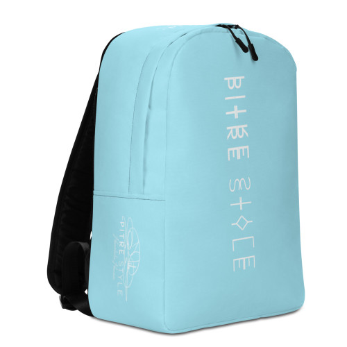 "Presenting Waikiki Blue ""Spine"" Pitre Style Signature Series backpacks designed in part by John Pitre, Casidy Rae and the Pitre Style team. If you feel like you're carrying half of your belongings with you at all times, this backpack is for you! It has a spacious inside compartment (with a pocket for your laptop), and a hidden back pocket for safekeeping your most valuable items."