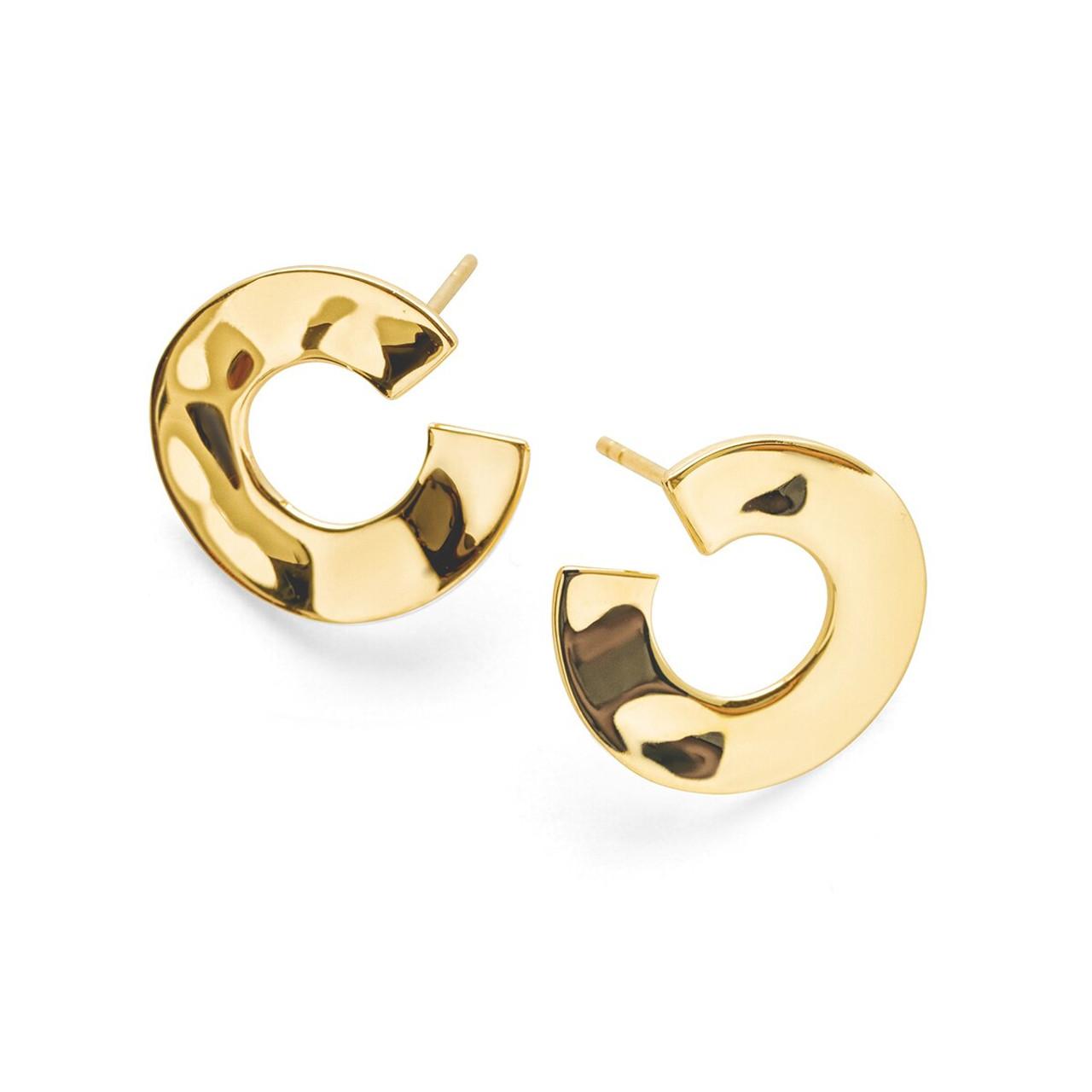 Details about  /18K Gold Filled Stunning Italian Petite Diamond 18ct GF Earrings 20mm