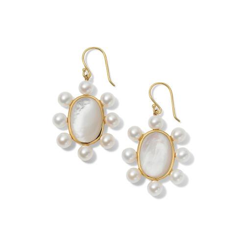 Oval Earrings in 18K Gold GE2250MOPCPRL