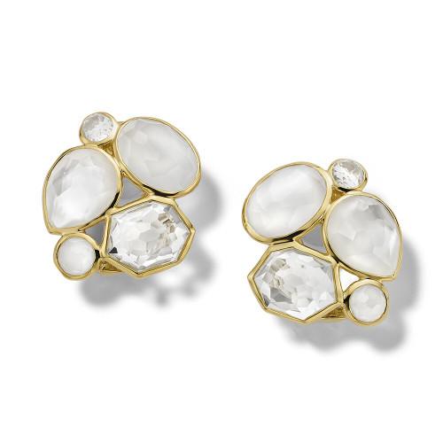 5-Stone Cluster Clip Earrings in 18K Gold GE2252FLIRTCLIP