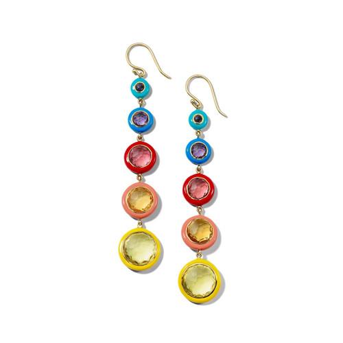 Carnevale Lollitini 5-Drop Earrings in 18K Gold GE2253RAINBOW