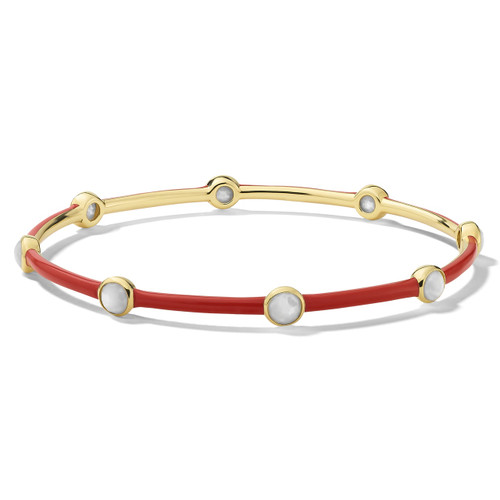 Carnevale 8-Stone Bangle in 18K Gold GB1084DFMOPGR2
