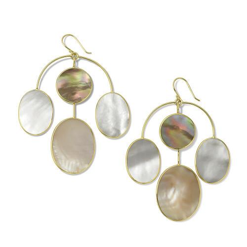 4-Stone Chandelier Earrings in 18K Gold GE2276DAHLIA
