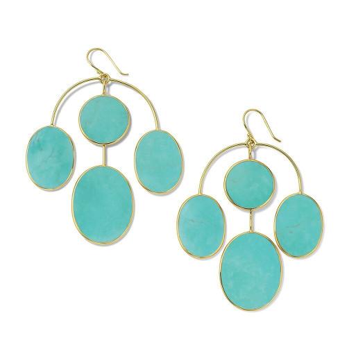 4-Stone Chandelier Earrings in 18K Gold GE2276TQSL