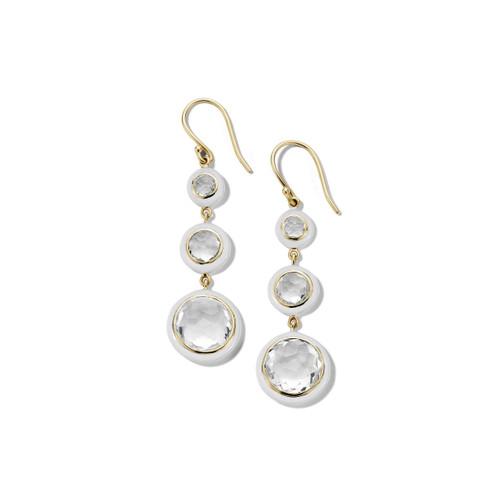 Carnevale 3-Drop Earrings in 18K Gold GE2297CQOW2