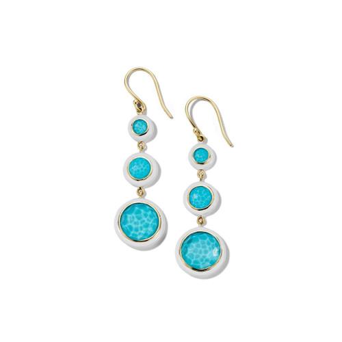 Carnevale 3-Drop Earrings in 18K Gold GE2297DFTQOW2