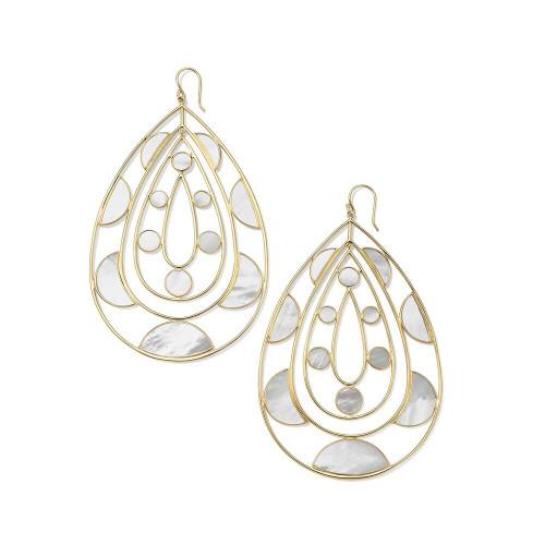 Supersize Tear Drop Earrings in 18K Gold GE2298MOPSL
