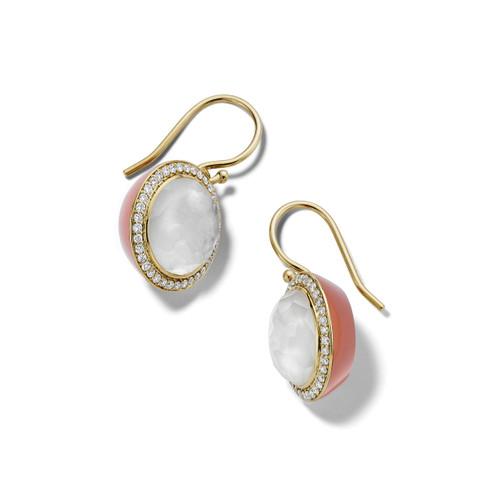 Carnevale Drop Earrings in 18K Gold with Diamonds GE2300DFMDIACP