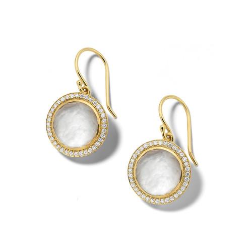Carnevale Drop Earrings in 18K Gold with Diamonds GE2300DFMDIAGR2