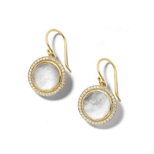 Carnevale Drop Earrings in 18K Gold with Diamonds GE2300DFMDIAIY