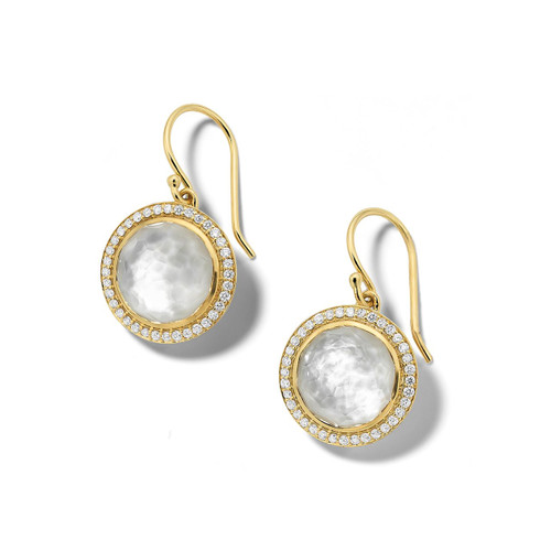 Carnevale Drop Earrings in 18K Gold with Diamonds GE2300DFMDIAOW2