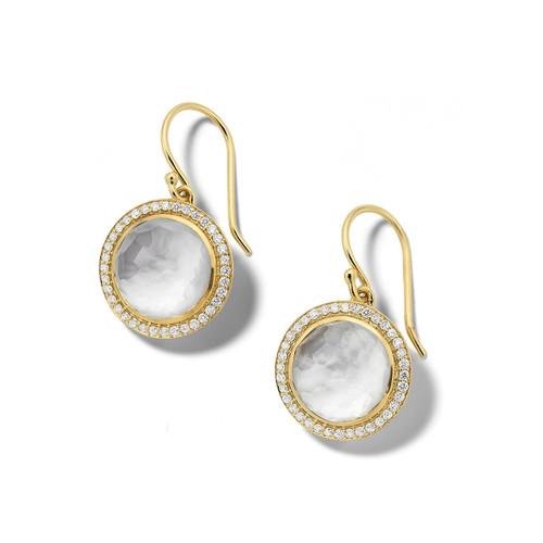 Carnevale Drop Earrings in 18K Gold with Diamonds GE2300DFMDIATU