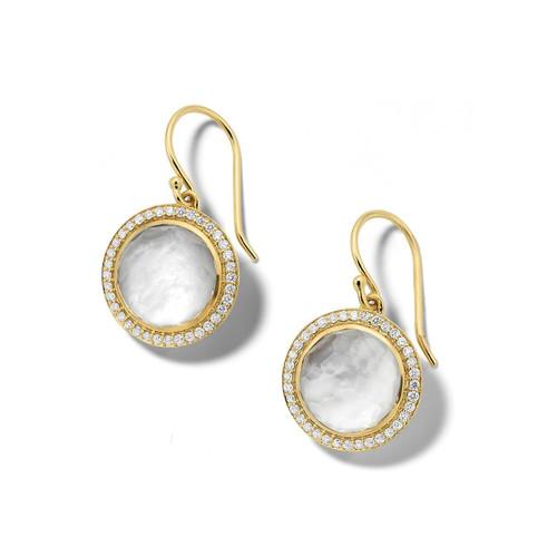 Carnevale Drop Earrings in 18K Gold with Diamonds GE2300DFMDIAVB