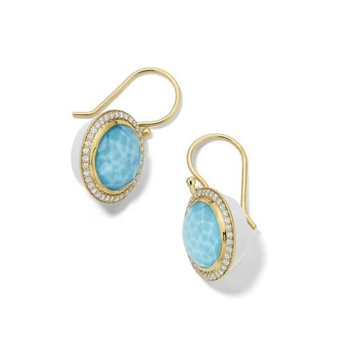 Carnevale Drop Earrings in 18K Gold with Diamonds GE2300DFTQDIAOW2