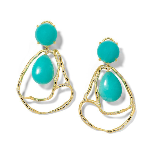 Drop Drizzle Earrings in 18K Gold GE2359AZDIA