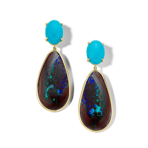 Drop Earrings in 18K Gold GE2371TQYWOP