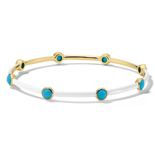 Carnevale 8-Stone Bangle in 18K Gold GB1084TQOW2