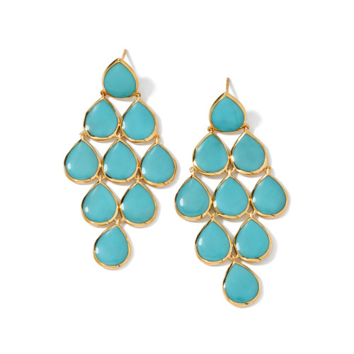 Cascade Earrings in 18K Gold GE431TQC