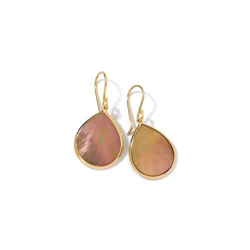 Small Stone Teardrop Earrings in 18K Gold GE615BRLSL