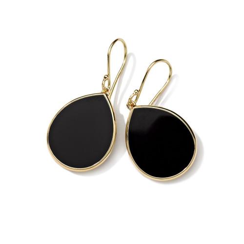 Small Stone Teardrop Earrings in 18K Gold GE615NXSL
