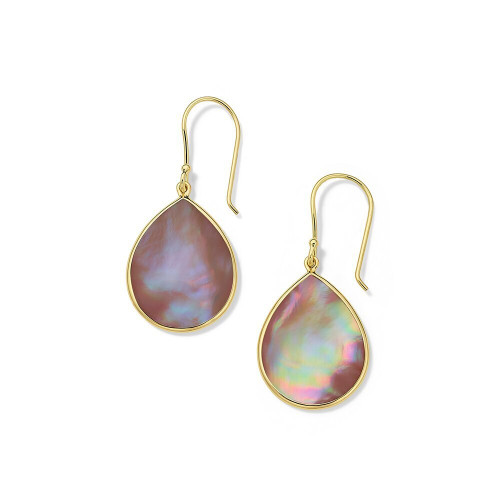 Small Stone Teardrop Earrings in 18K Gold GE615PMO