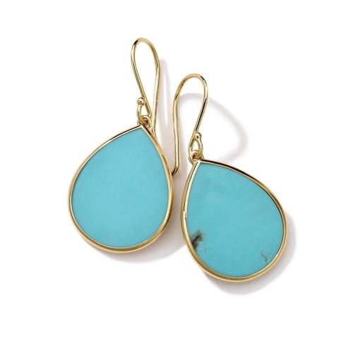 Small Stone Teardrop Earrings in 18K Gold GE615TQSL