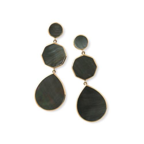 Crazy 8's 3-Stone Drop Earrings in 18K Gold GE616BKLSL