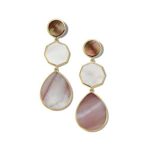 Crazy 8's 3-Stone Drop Earrings in 18K Gold GE616DAHLIA
