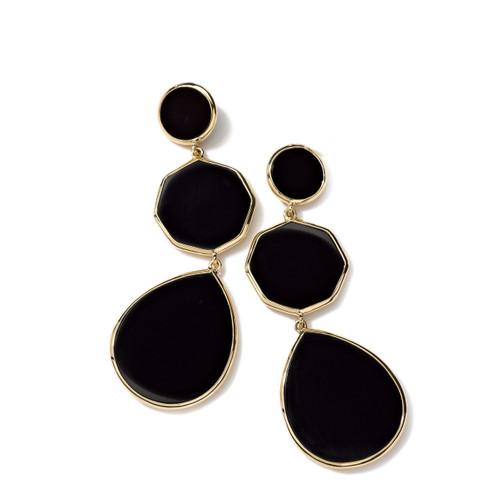 Crazy 8's 3-Stone Drop Earrings in 18K Gold GE616NXSL