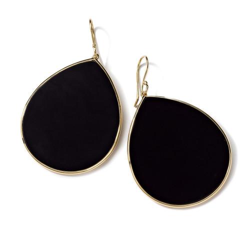 Jumbo Stone Teardrop Earrings in 18K Gold GE620NXSL