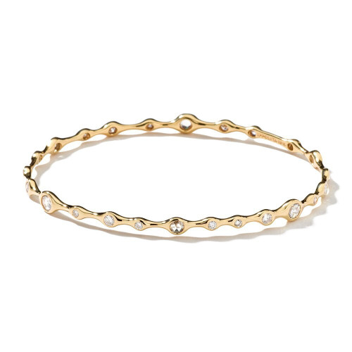 Superstar Bangle in 18K Gold with Diamonds GB144DIA-A-PA
