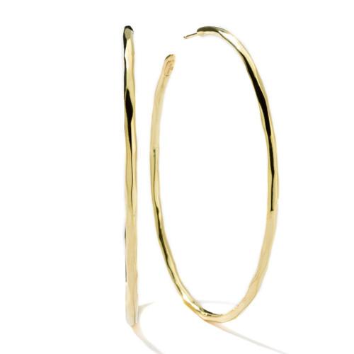 Extra Large Squiggle Hoop Earrings in 18K Gold GE819