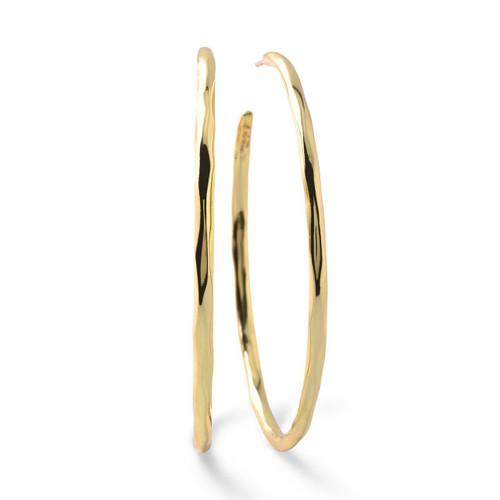 Large Squiggle Hoop Earrings in 18K Gold GE820