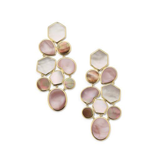Mosaic Earrings in 18K Gold GE883DAHLIA