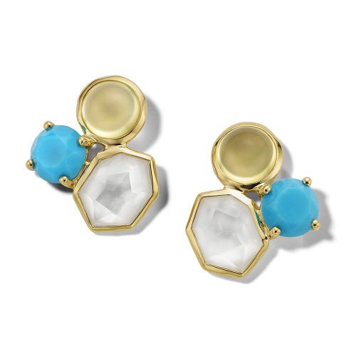 Gelato 3-Stone Earrings in 18K Gold GE976OASIS