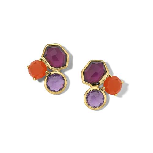 Gelato 3-Stone Earrings in 18K Gold GE976SONOMA