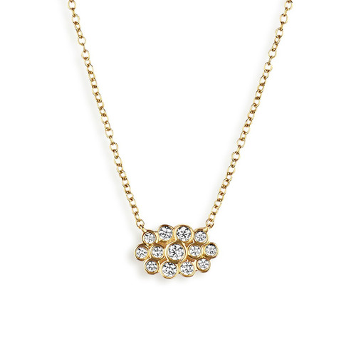 Starlet Mini Cloud Necklace in 18K Gold with Diamonds GN1092DIA