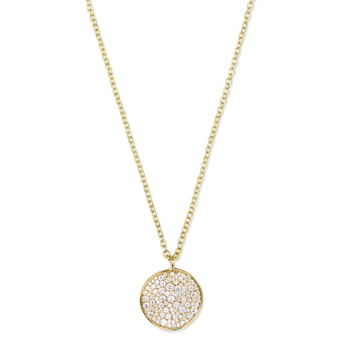 Medium Flower Pendant Necklace in 18K Gold with Diamonds GN109DIA-A