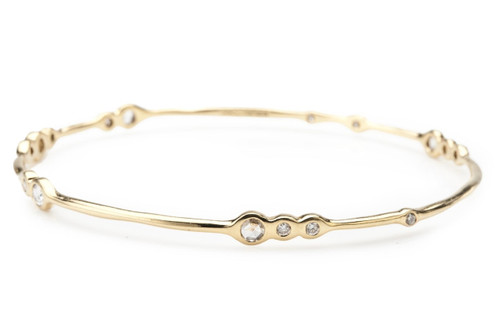 Sweet 16 Bangle in 18K Gold with Diamonds GB187