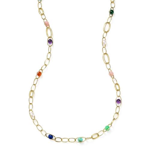 Oval Link Necklace in 18K Gold GN1302RIV