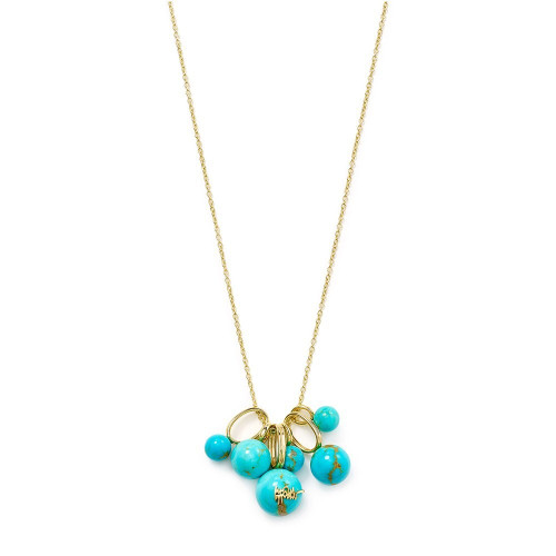 Cluster Pendant Necklace in 18K Gold GN1363TQGM