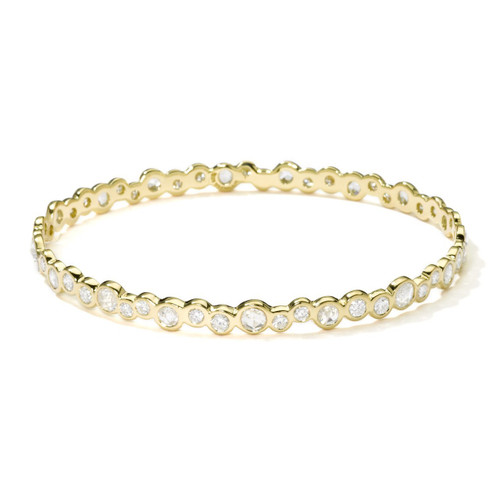 Superstar Bangle in 18K Gold with Diamonds GB200