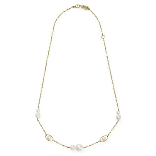 5-Station Necklace in 18K Gold GN1407PRL