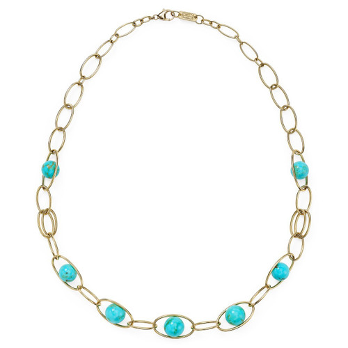 6-Station Necklace in 18K Gold GN1409TQGM